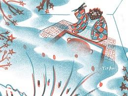 安房直子童话《酱萝卜之夜》书籍插画