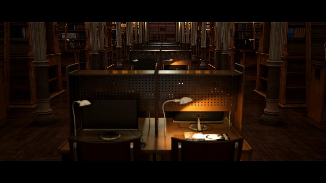 图书馆特写元素|三维|场景|huafengcg - 原创作品图片