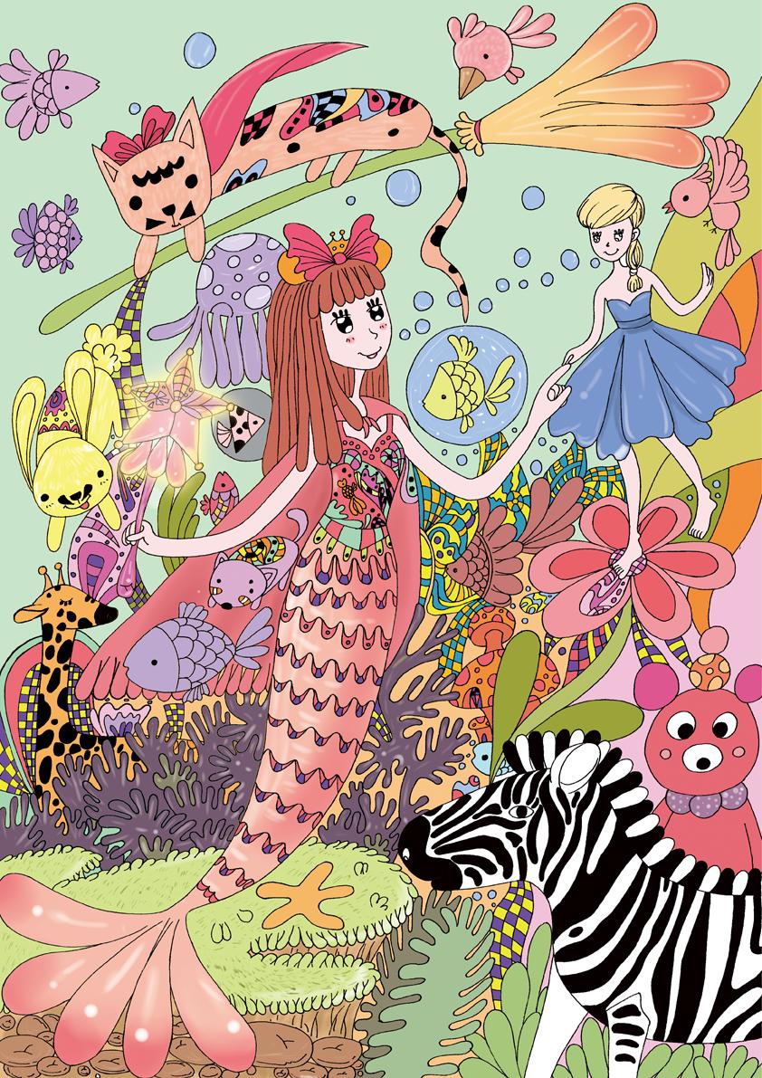 我想做一只美人鱼 商业插画 插画 云的彼岸 - 原