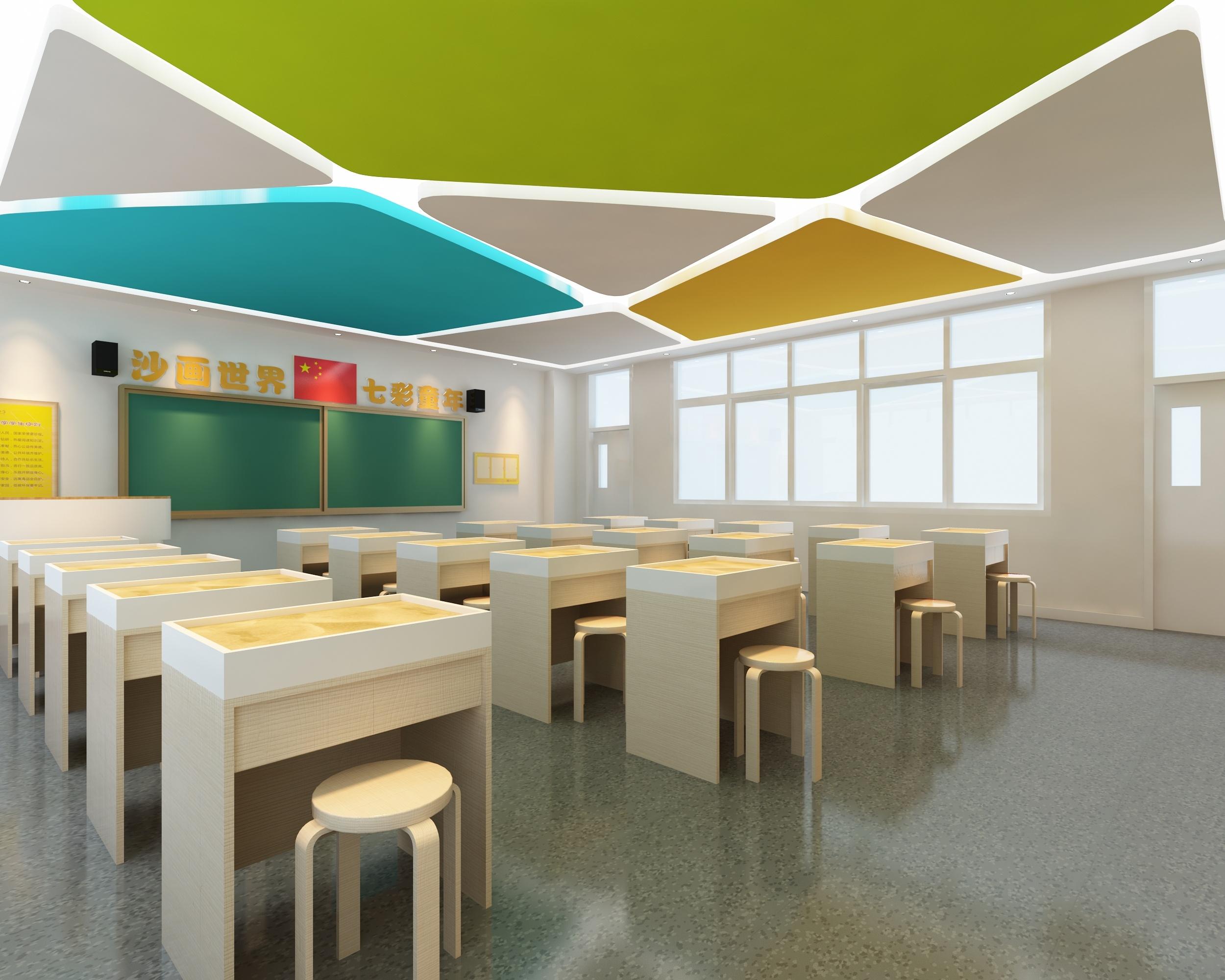 沙画教室 创客教室|空间|室内设计|处女座的马 - 原创