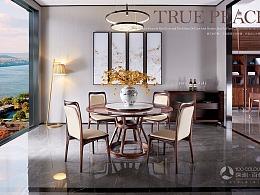 续集新中式家具摄影 (床/沙发/桌子/柜子/茶几/椅子)