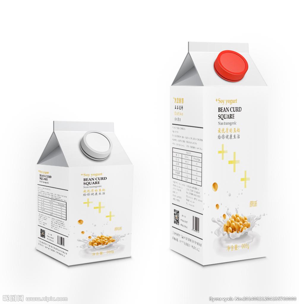 简洁酸奶包装设计