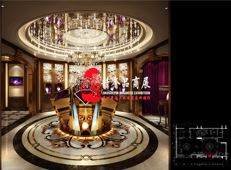 广州会所钻石皇朝珠宝展柜设计_广州珠宝展示柜_展柜