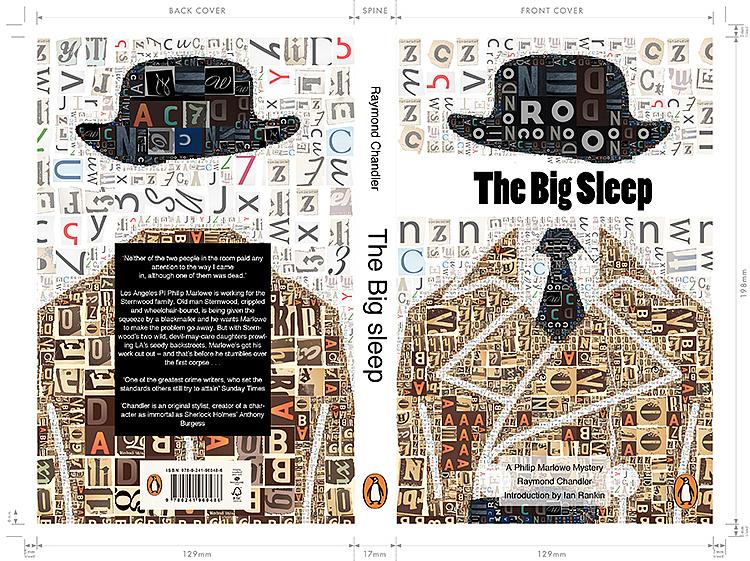 推荐书的开头_Penguin Award The Big Sleep 《长眠不醒》小说封面设计|平面|书装/画册 ...