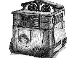 钢笔画WALL-E