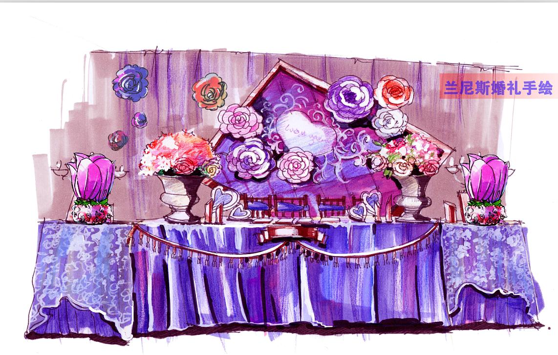 婚礼手绘 宴会手绘
