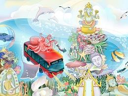#e域之城,巴士载梦# 比亚迪——东南亚海底游