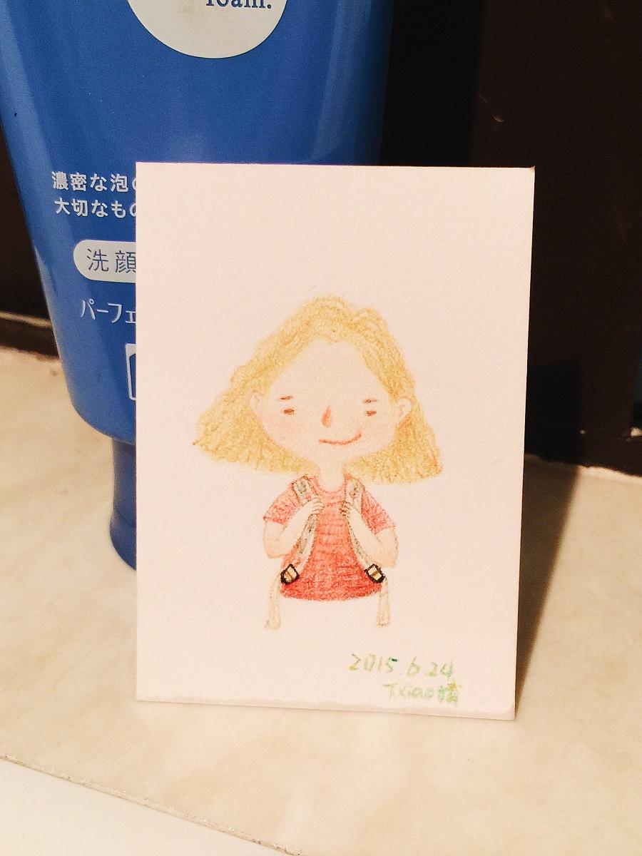 手绘彩铅小人物系列插画38|商业插画|插画|丁小婧