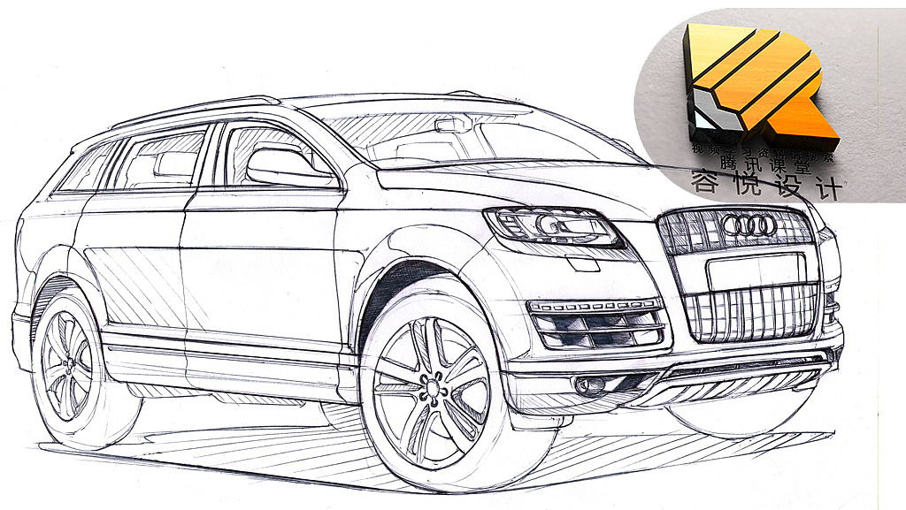 汽车设计线稿工业设计手绘产品设计工业设计考研手绘图片