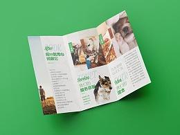3折页设计(PSD)宠物3折页狗粮三折页狗粮宣传单