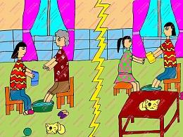 电脑作品 学生绘画作品 中小学电脑绘画作品制作图片