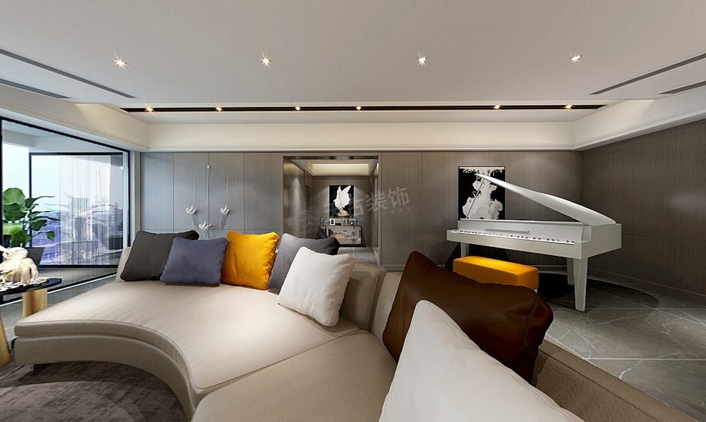 重庆大平层豪宅装修效果图|天古装饰现代轻奢340㎡设计图片