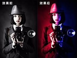 PhotoShop免费教程:深沉暗色系海报制作