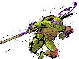 忍者神龟-水墨风的···