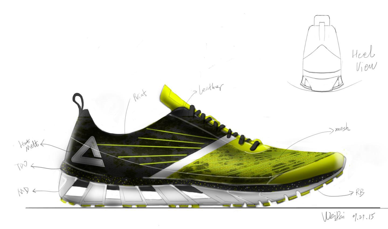 利用sketchbook软件快速表现球鞋结构与