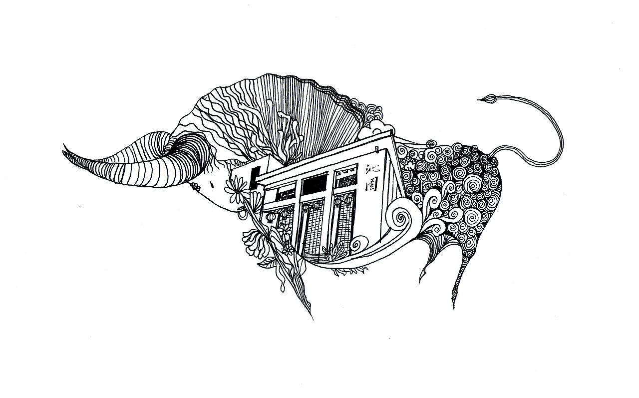 校园文化创意插画作品|插画|概念设定|褴褛的大树