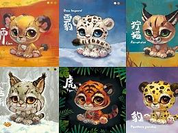 【野生CAT集】大猫 狞猫猞猁 薮猫兔狲 虎狮豹