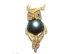 异形珍珠/艺术首饰《猫头鹰》创作过程