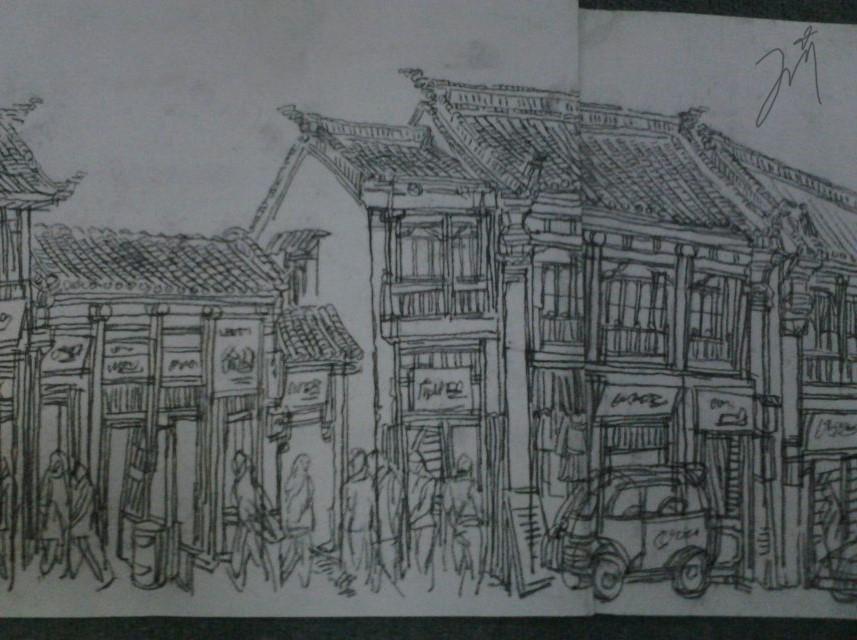 手绘|绘画习作|插画|外边风大