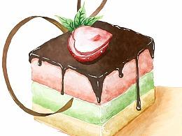 商业插画-蛋糕