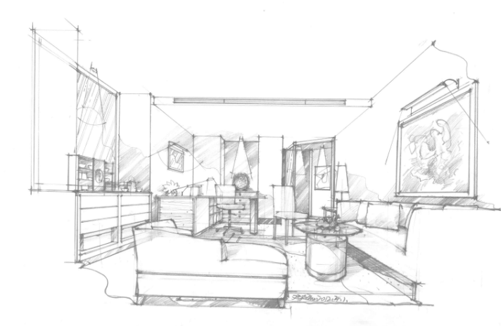 室内效果图手绘渲染|建筑设计|空间|邓超老师 - 原创