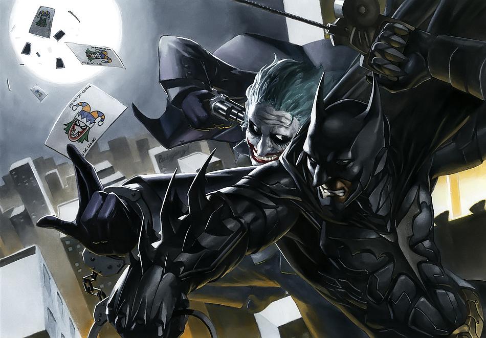 马克笔手绘作品-《蝙蝠侠&小丑》