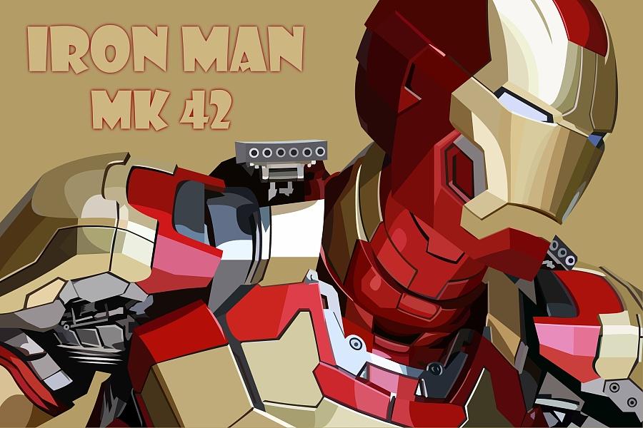 钢铁侠mk42|图形/图案|平面|漫威小跟班