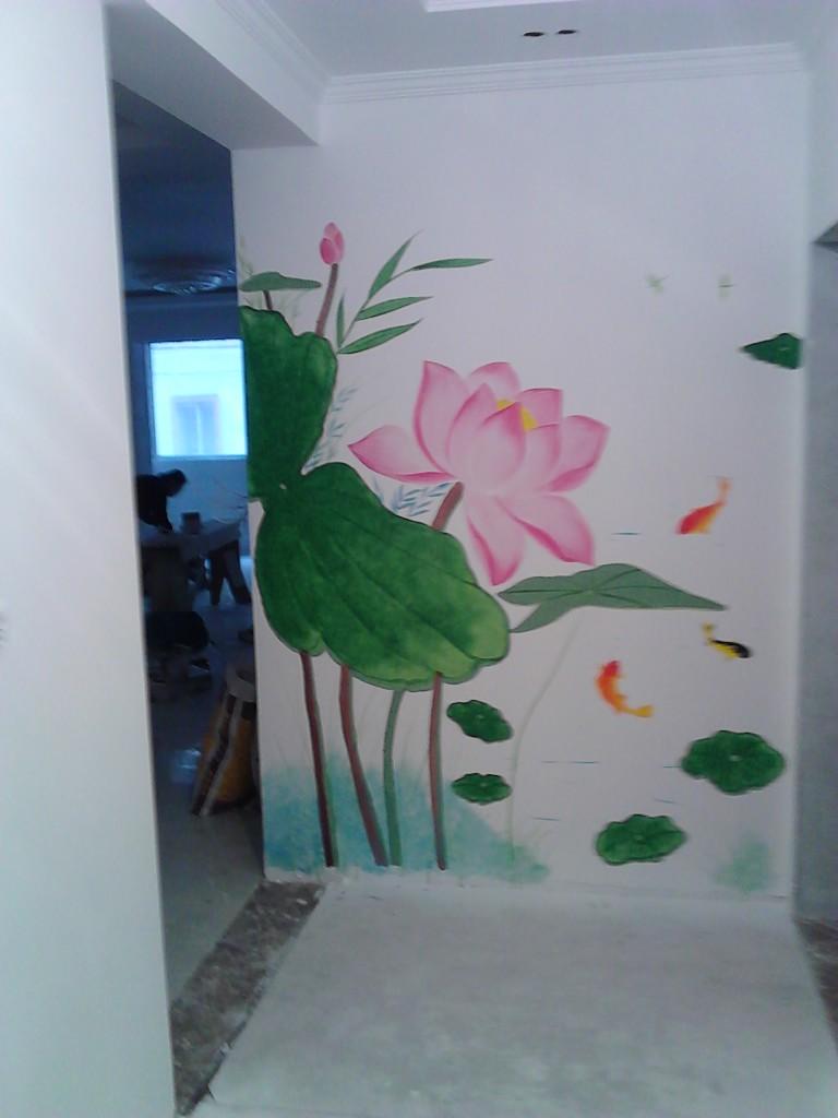 采用环保颜料是手绘墙画的亮点,因为这是一种水性颜料,不会对室内造成