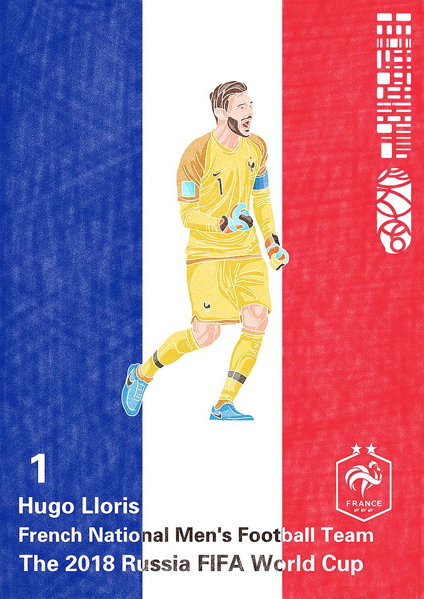 法国门将_2018年世界杯绘画系列(最终章)——冠军法国加冕两星|插画 ...