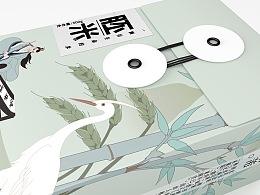 《鸣蝉--襄阳六贤系列高端米包装》国风插画系列包装