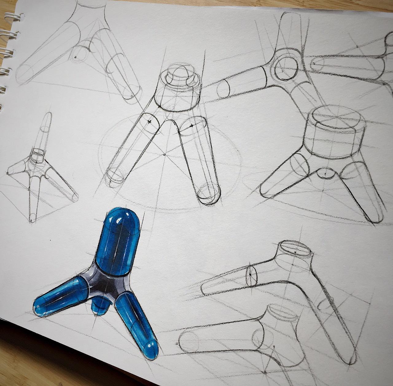 产品手绘线稿及马克笔技法表现