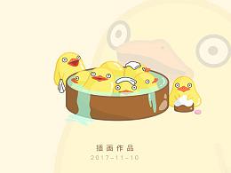 插画作品-小鸭子