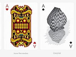 很多设计师一起完成的纸牌