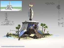 洛克猴单体建筑设计《匈奴行营》步骤大图分享