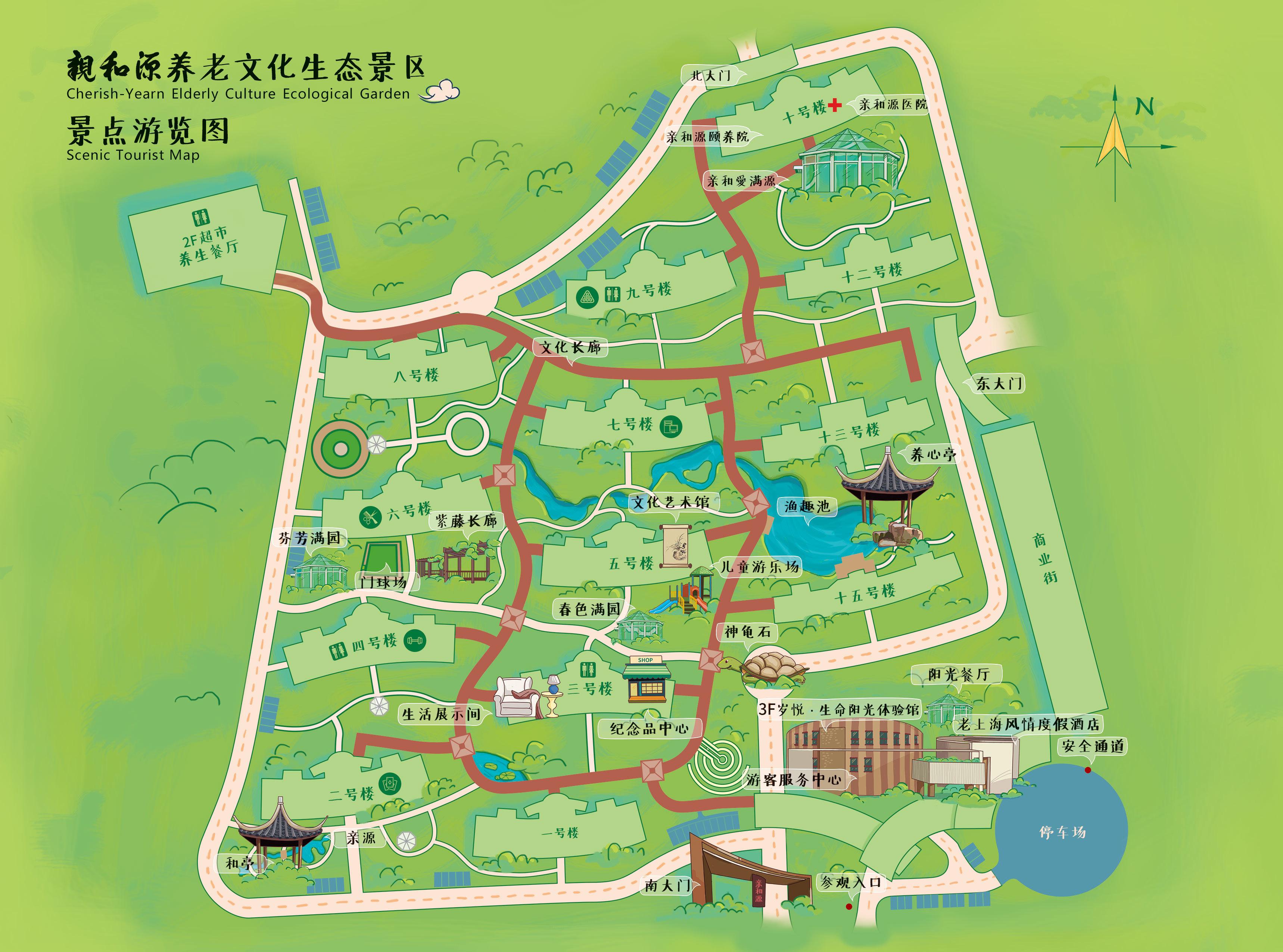aaa景区手绘地图