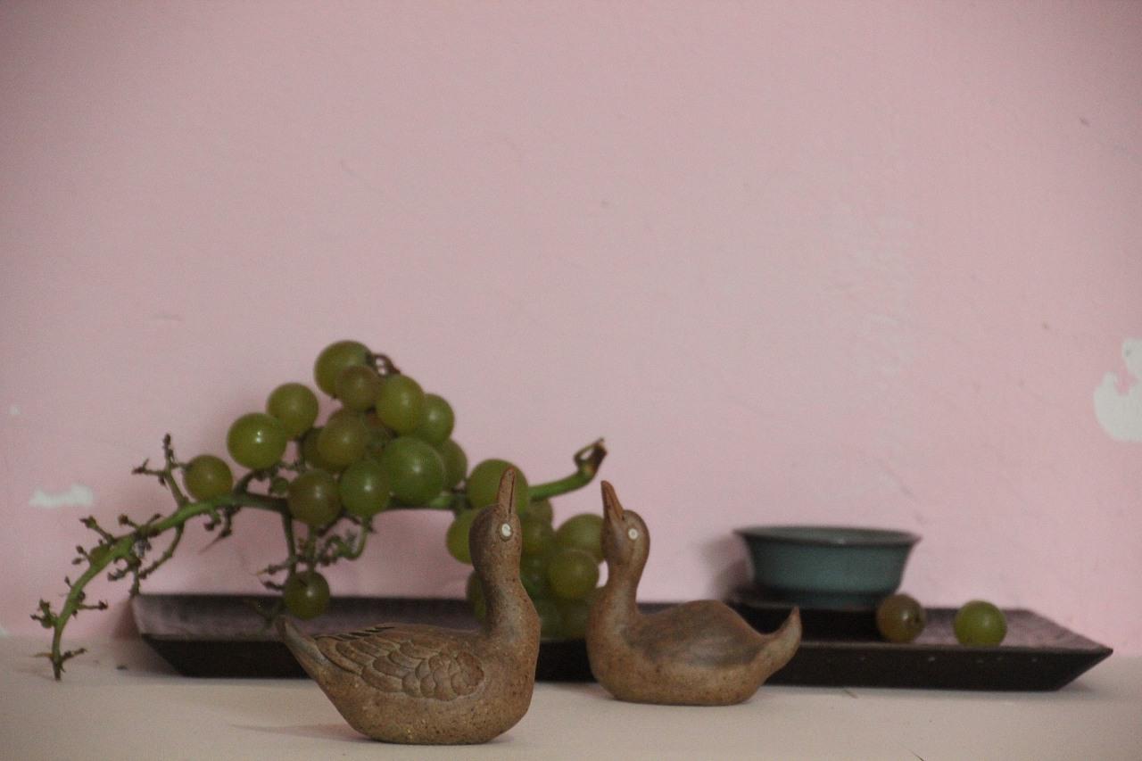 纯手工陶瓷动物雕塑艺术品制作