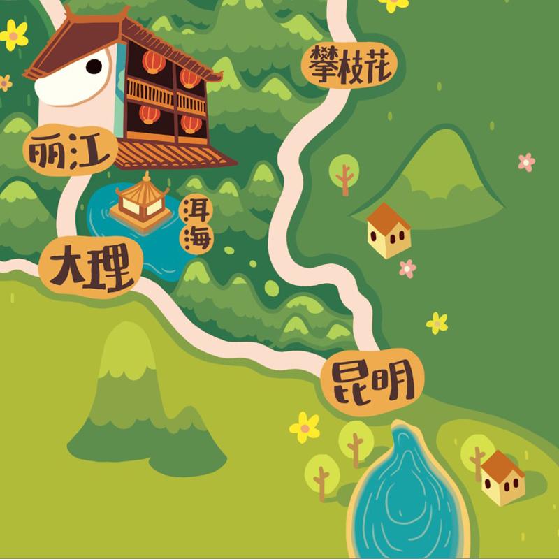 林p酱最新q版地图之★大西藏篇★ 商业插画 插画