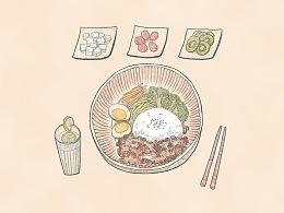 二更食堂美食插画