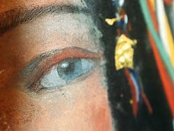 【岩彩】女财神扎基拉姆·四 绘制过程解析