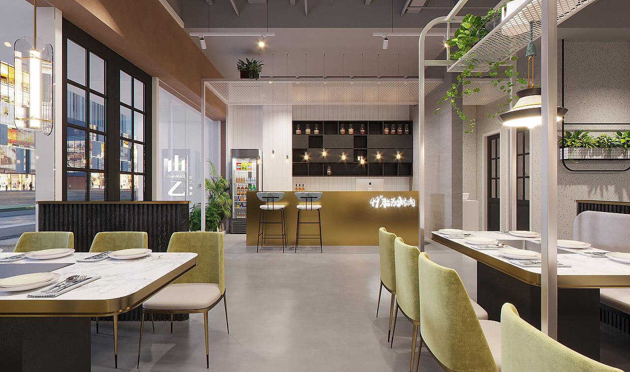 郑州网红餐饮的装修网红餐饮店设计案例效果图招聘顺德大良室内设计师赏析图片