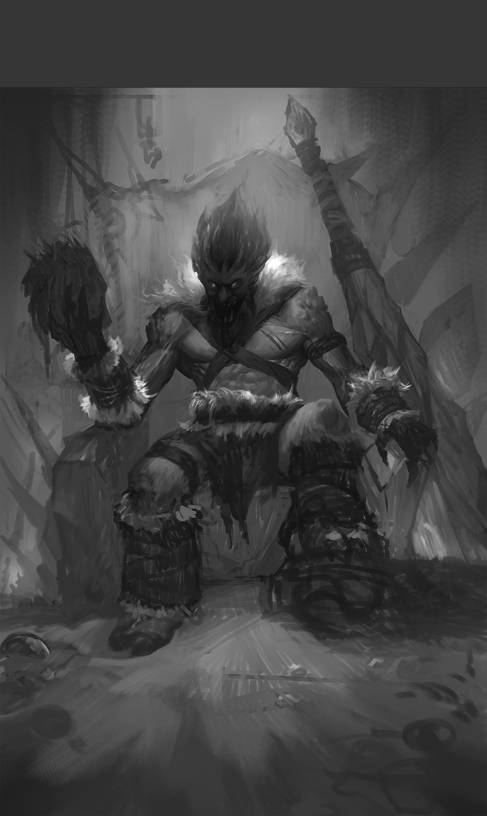 英雄联盟 巨魔之王同人绘制|绘画习作|插画|沈阳