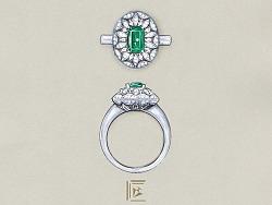 祖母绿高级珠宝定制(戒指篇)