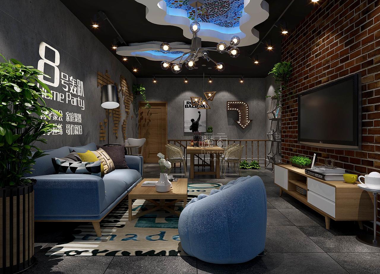 8号轰趴馆空间设计|空间|室内设计|公司BoX-原景观设计魔方管理制度图片