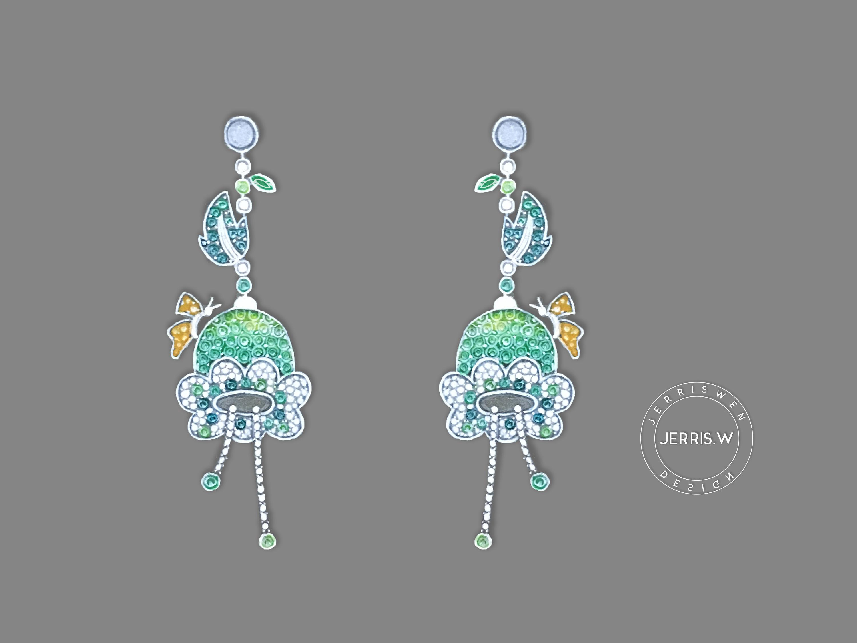 标签:珠宝设计珠宝手绘 jerriswen 广州