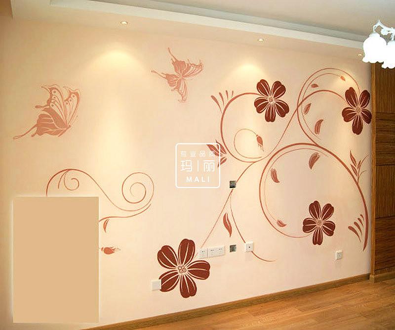 影视墙手绘图案例|插画|商业插画|西安学校商场墙绘