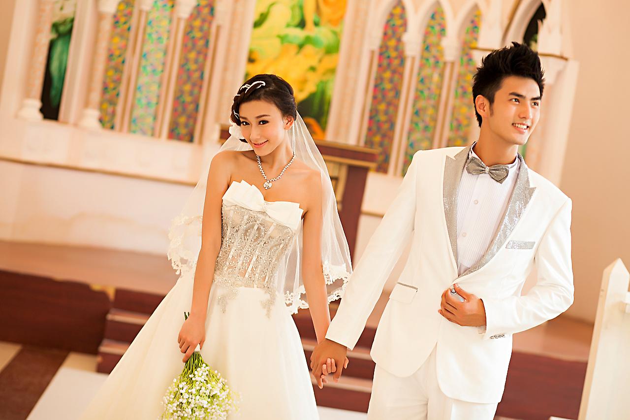 深圳现代经典婚纱摄影——玫瑰海岸照片欣赏图片