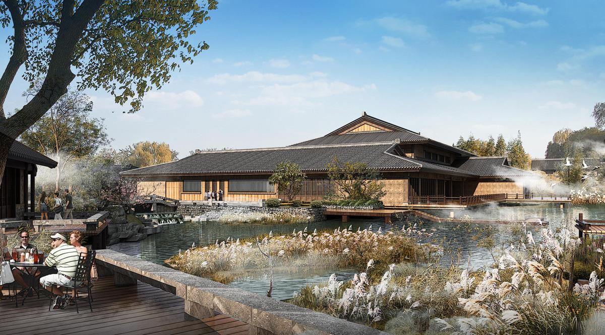 重庆古建筑设计/道观古镇1设计/寺庙设计/仿古规划uiflash图片