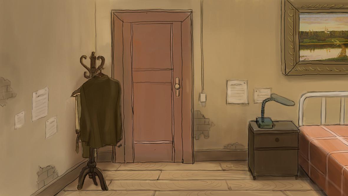 《老画家》动画场景