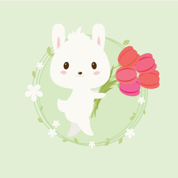 卡通萌宠兔子练习
