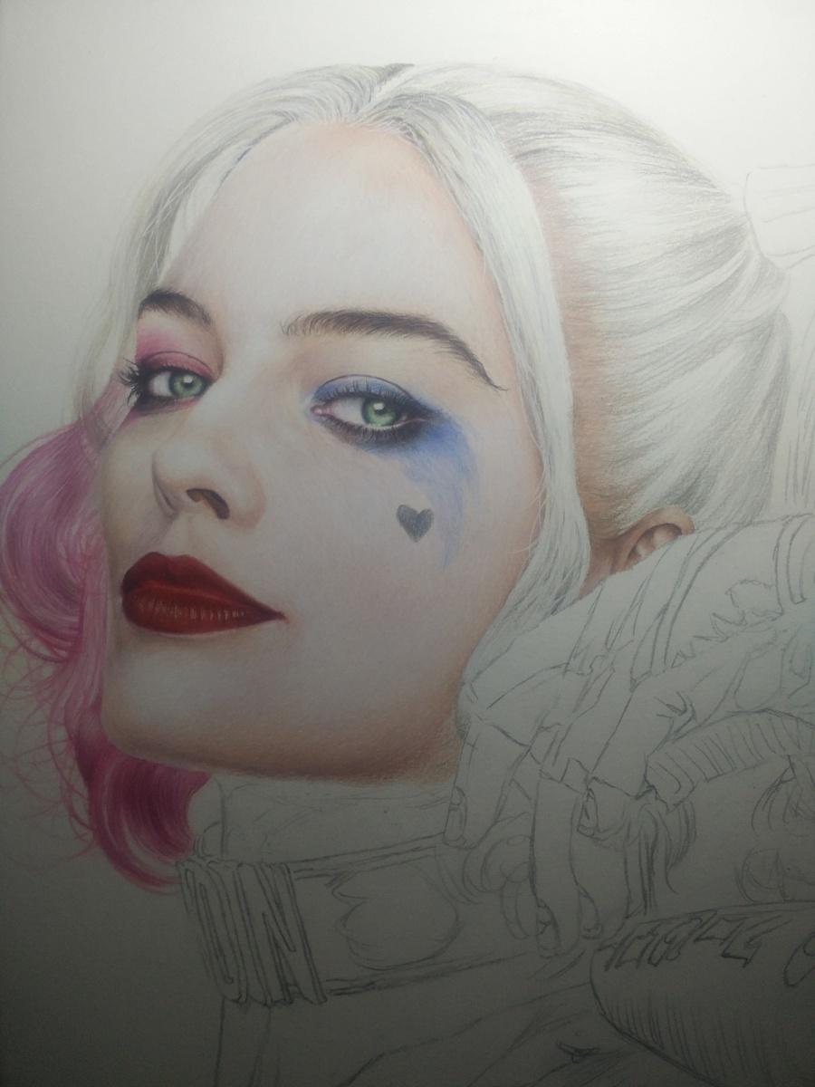 原创作品:彩铅手绘小丑女